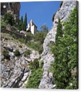 Moustier St. Marie Church Acrylic Print