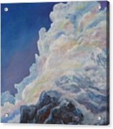 Moutain In The Clouds Acrylic Print