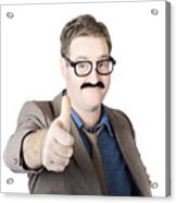 Movember Man Proud Of His Moustache Acrylic Print