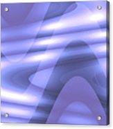 Moveonart Blu Wave Focus Acrylic Print