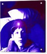 Moveonart Jacob In Blue Light Thinking Acrylic Print