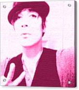 Moveonart Jacob Pink  Acrylic Print