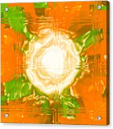 Moveonart Joy With Light In Orange Acrylic Print