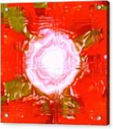 Moveonart Light Saturation With Red Acrylic Print