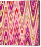 Moveonart Lively Waves Of Joy Acrylic Print