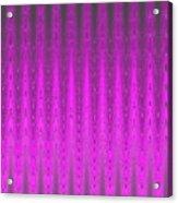 Moveonart Mysterious Violet Curtain Acrylic Print
