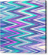 Moveonart Zig Zag Therapy One Acrylic Print