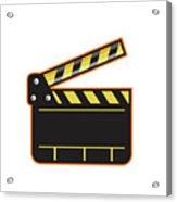 Movie Camera Slate Clapper Board Open Retro Acrylic Print