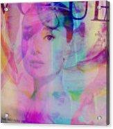 Movie Icons - Audrey Hepburn Vi Acrylic Print