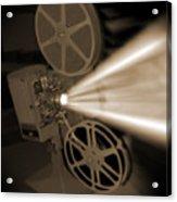 Movie Projector  Acrylic Print by Mike McGlothlen