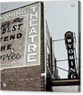 Movie Sign 2 Acrylic Print