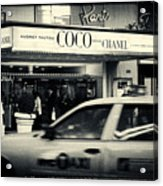 Movie Theatre Paris In New York City Acrylic Print by Sabine Jacobs