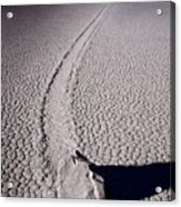 Moving Rocks Number 2  Death Valley Bw Acrylic Print