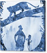 Mowgli, Baloo And Bagheera-blue Acrylic Print