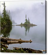 Mowich Lake In Fog  Acrylic Print
