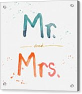 Mr And Mrs Acrylic Print