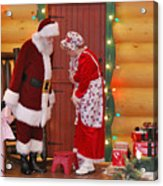 Mr And Mrs S Claus Acrylic Print
