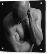 Mr Gym Bnw Acrylic Print
