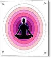 Meditation With Yoga Acrylic Print