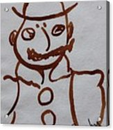 Mr Leopold Bloom Acrylic Print by Roger Cummiskey