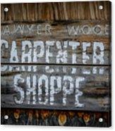 Mr. Sawyer Wood Acrylic Print