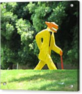 Mr. Wolf Goes For A Walk In His Spiffy New Suit Acrylic Print