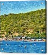 Megalo Kavouri Beach Acrylic Print