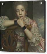 Mrs Abington As Miss Prue In Love For Love By William Congreve Acrylic Print