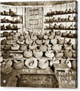 Mrs. Butts Mortar And Pestle Collection Found In San Benito Co. Acrylic Print