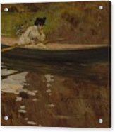 Mrs. Chase In Prospect Park , William Merritt Chase Acrylic Print