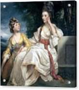 Mrs Thrale And Her Daughter Hester Acrylic Print