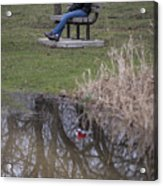 Ms Claus Reflects On The Year Acrylic Print