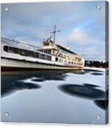 Ms Mount Washington At Winter Dock Acrylic Print