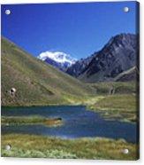 Mt Aconcagua And Laguna Horcones Acrylic Print