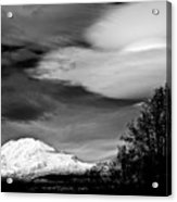 Mt Adams With Lenticular Cloud Acrylic Print