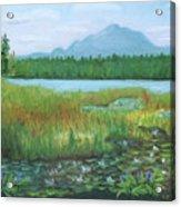 Mt Ampersand From Oseetah Lake Acrylic Print