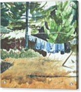 Mt. Barnabe Wash Acrylic Print