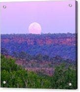 Mt Barnett Moon Acrylic Print