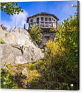 Mt. Cammerer Observation Tower Acrylic Print