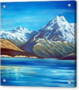 Mt Cook New Zealand Acrylic Print