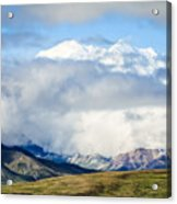 Mt Denali In The Clouds Acrylic Print