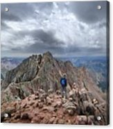 Mt Eolus And The Catwalk From North Eolus - Chicago Basin - Weminuche Wilderness - Colorado Acrylic Print