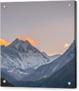 Mt Everest In The Morning Acrylic Print