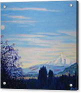 Mt Hood A View From Gresham Acrylic Print