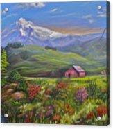 Mt Hood Fantasy Farm Acrylic Print