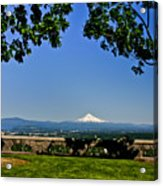 Mt Hood From Rocky Butte Acrylic Print