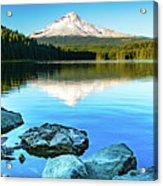 Mt. Hood In Trillium Lake Acrylic Print