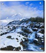 Mt. Hood Morning Acrylic Print by Mike  Dawson