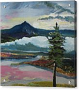 Mt Hood Winter Sunrise Acrylic Print