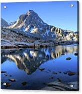 Mt Huxley Over Saphire Lake Morning - John Muir Trail Acrylic Print